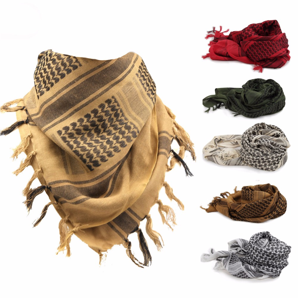 Tactical Shawl Neck Cover Multi-purpose Army Head Wrap Military Keffiyeh Shemagh Desert Arab Scarf Hiking Hunting Accessories