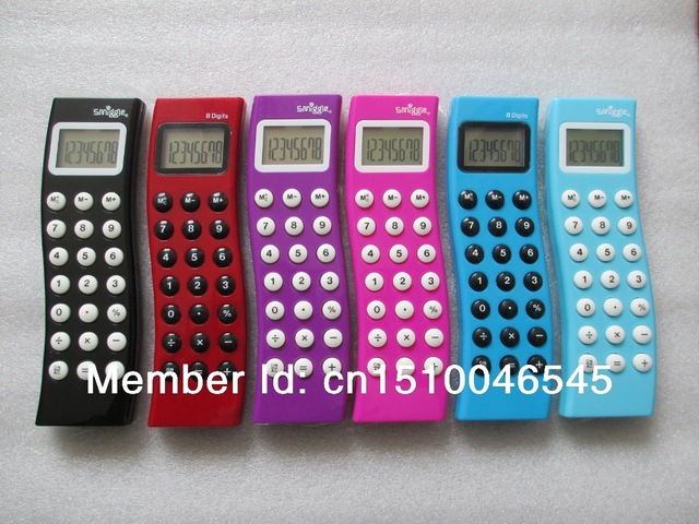 Smiggle S Shape Fancy Pocket Calculator