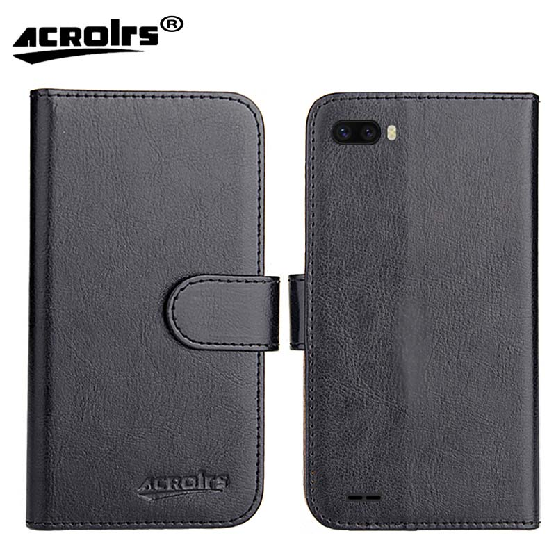 For <font><b>Ulefone</b></font> <font><b>S1</b></font> <font><b>Case</b></font> 6 Colors Dedicated Leather Exclusive Special Crazy Horse Phone Cover <font><b>Cases</b></font> Credit card Wallet+Tracking image