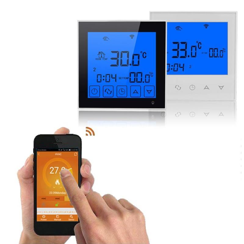 Wifi LCD Thermostat Touch Screen Smart Temperature Thermostat Wireless Room Underfloor Heating Controller Thermoregulator touch screen wifi thermostat thermoregulator smart programmable temperature controller lcd wireless electric heating system