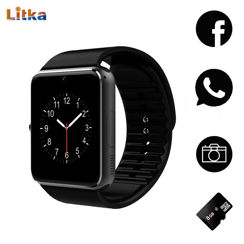 Galleria fotografica Montre Smart Watch GT08 Horloge Bluetooth Connectivité Android téléphone Soutien SIM Card Sync Notifiant Push Messages <font><b>Smartwatch</b></font> TF Carte Heure
