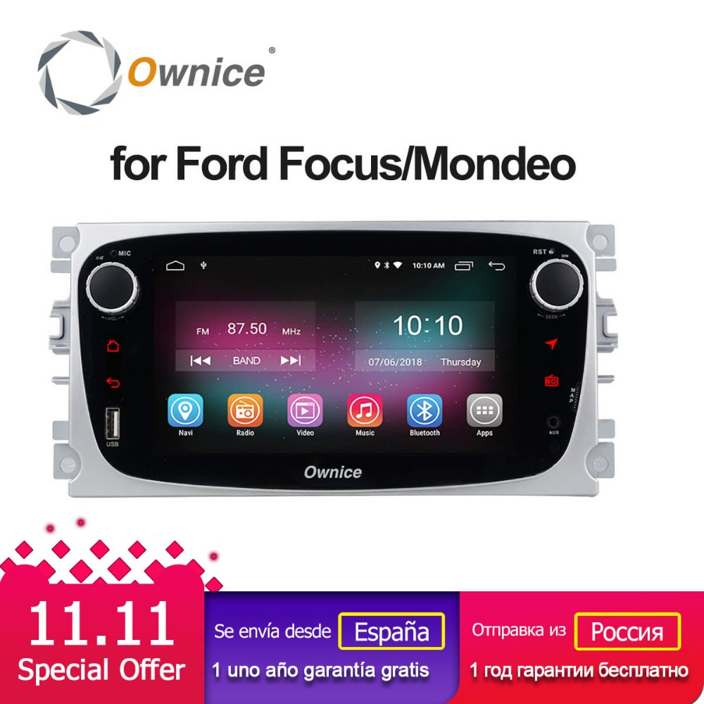 Ownice K1 Car Multimedia Player Android GPS 2 Din car dvd player per FORD/Focus/S-MAX/Mondeo /C-MAX/Galaxy autoradio di Navigazione