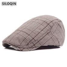 SILOQIN Simple Plaid Cotton Berets For Men And Women Adjustable Head Size Casual Sun Visor Cap Couple Caps Brand Dad Hat Unisex