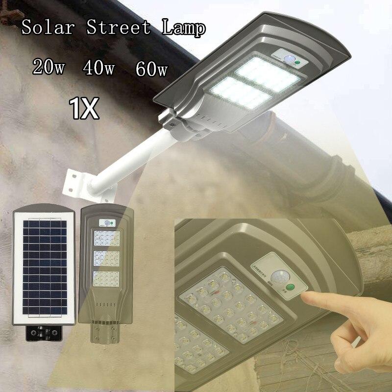 1 xoutdoor engenharia ip65 radar sensor de controle de luz da lampada de rua solar a