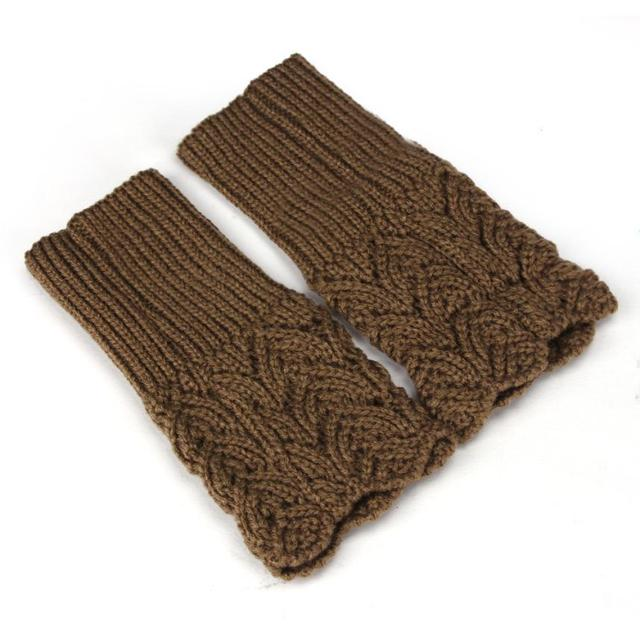 Newly Design Women's Warm Winter Brief Paragraph Knitting Hollow Half Fingerless Gloves 160114