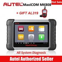 Autel MaxiCom MK808 автомобильный диагностический сканер сканирования автомобильный инструмент для анализа двигателя вся система сброса масла EPB DPF TPMS ключ программист