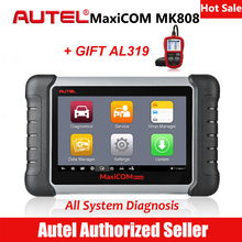 Autel MaxiCom MK808 Automotive Diagnostic Scan Scanner Car Engine Analysis Tool All System Oil Reset EPB DPF TPMS Key Programmer(China)