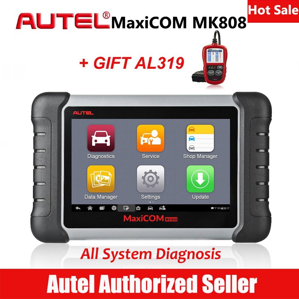 MaxiCom MK808 Automotive Diagnostic Scanner Digitalização Autel DPF Redefinição EPB Ferramenta de Análise de Todo o Sistema de Óleo Do Motor Do Carro TPMS Programador Chave