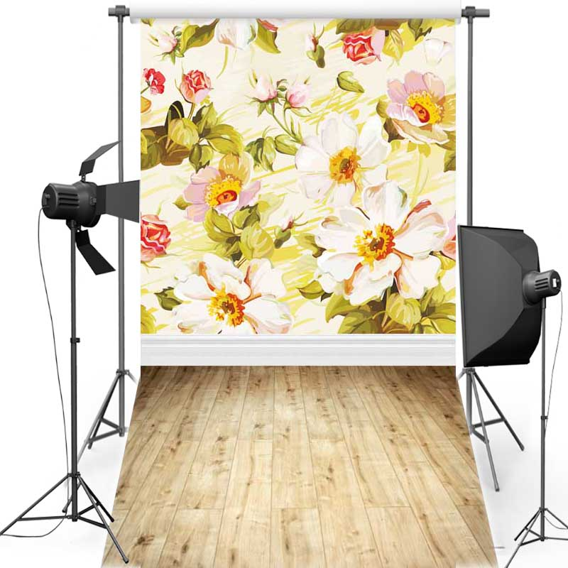 MEHOFOTO Flower Wall New Fabric Flannel Photography Background For Newborn Floor Vinyl Backdrop For Children photo studio F1221 newborn photography background blue sky white clouds photo backdrop vinyl balloons scattered petals backgrounds for photo studio