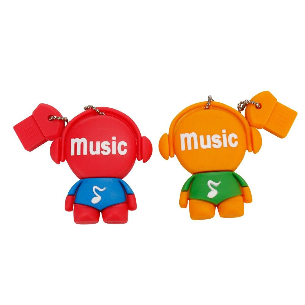 Image 2 - Персональный подарок с мультипликационным музыкальным персонажем, большая емкость, usb флеш накопитель, 4 ГБ, 8 ГБ, 16 ГБ, 32 ГБ, 64 ГБ, u диск, флеш накопитель-in USB флэш-накопители from Компьютер и офис