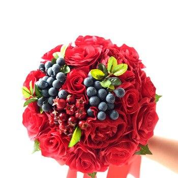 Bouquet Sposa Prezzi 2018.Miglior Prezzo 2018 7 More Rosso Da Sposa Spose Damigelle Bouquet