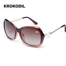 35ad42ca25 Krokodil gafas de sol mujer polarizada gafas de sol femeninas Vintage  Oversized gafas de sol Shades