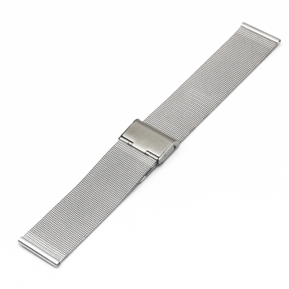 Milanese Stainless Steel Watch Band 18mm 20mm for DW Daniel Wellington Hook Clasp Strap Wrist Loop Belt Bracelet Black Silver in Watchbands from Watches