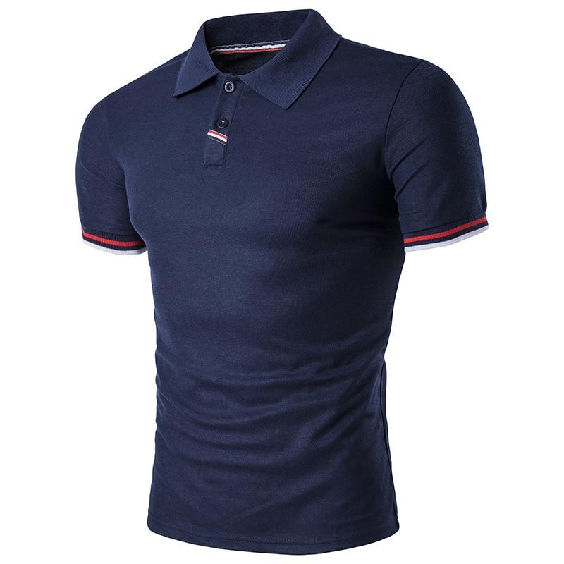 2018 Sommar Ny Produkt Europeisk Storlek Striped Stitching Kortärmad - Herrkläder