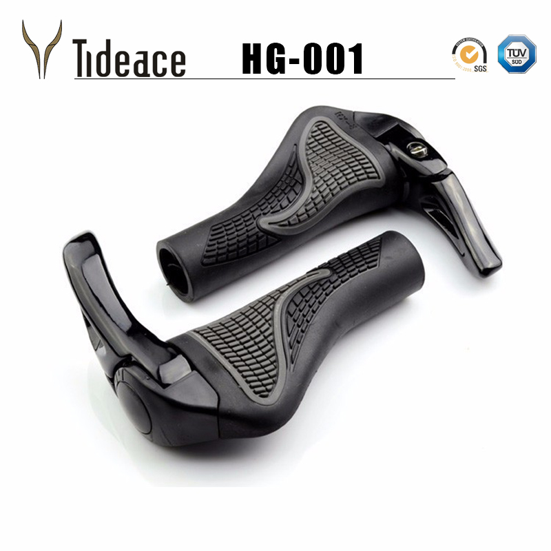 1 pair MTB Mountain/road Bike <font><b>Bicycle</b></font> lock-on alloy Rubber Handlebar Cover Handle grip Bar End <font><b>bicycle</b></font> grips for <font><b>bicycle</b></font> <font><b>parts</b></font> image