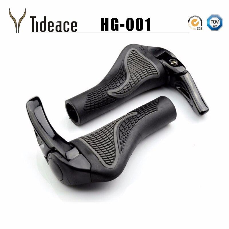 1 par MTB montaña/bicicleta de carretera Bloqueo de aleación de goma manillar cubierta mango agarre barra extremo de bicicleta para piezas de bicicleta