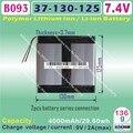 [B093] 7.4 V, 8000 mAH, [37130125] Polímero de íon de lítio/bateria de Iões de lítio para tablet pc, e-book, gps