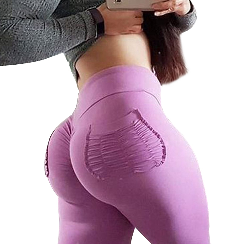 Women Yoga Pants Sports Exercise Tights Fitness Running Jogging 2018 Gym Slim Compression Pants Leggings Sexy Hips Push Up