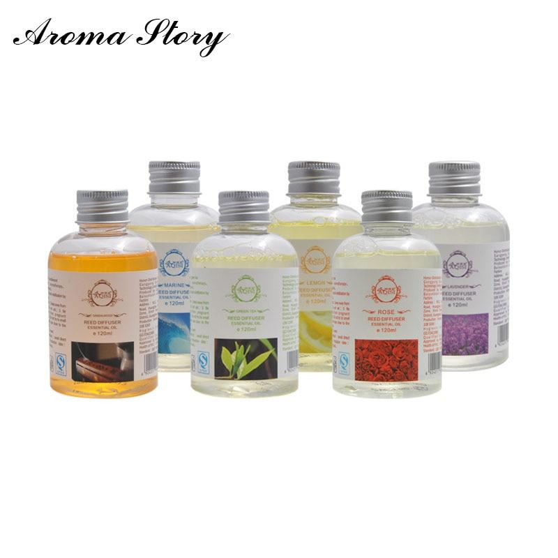 1 шт. 120 мл домашнего аромата масла диффузор Replenisher роза / сандаловое дерево / зеленый чай / лаванда / океан / лимон бесплатная доставка