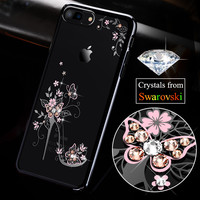 KAVARO For IPhone 7 7 Plus Case Luxury Crystal Plating PC Cell Phone Case For Iphone