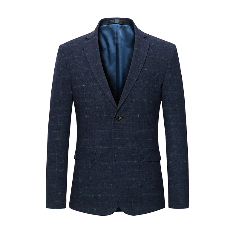 2018 New Men Casual Blazer Plaid Style Single Breasted Fashion Male Wear Two Butotons Casual Suit Jacket M 2XL 3XL 4XL 5XL #998