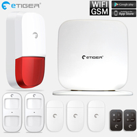 Security Protection Wireless 433MHz GSM Alarm System White Color Home Burglar Alarm System Motion Sensor