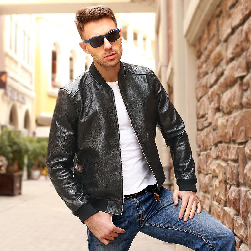 Free Shipping.Brand Classic Man Genuine Leather Coat,soft Sheepskin Jacket.leather Jacket.plus Size Sales,casual Bomber Flight