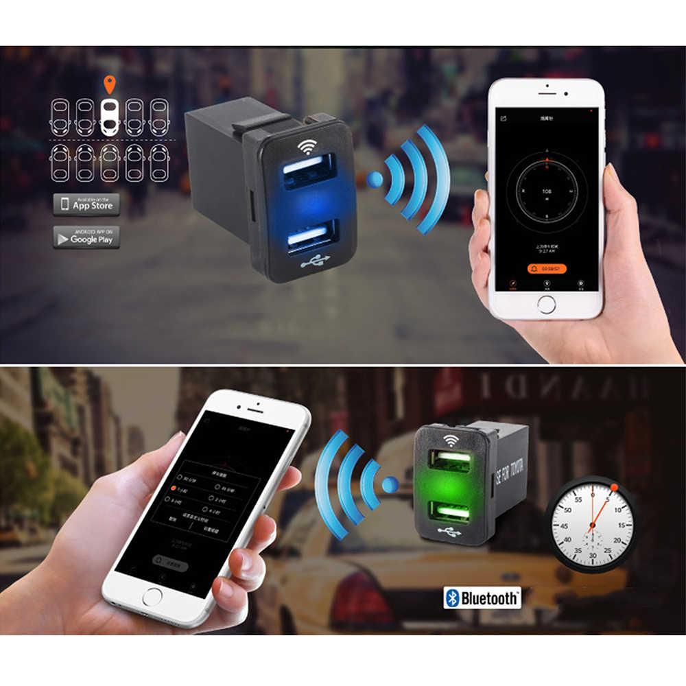 12V-24V Bluetooth Cigarette Lighter Sockets Power Adapte Car Dual USB Socket for Honda cars