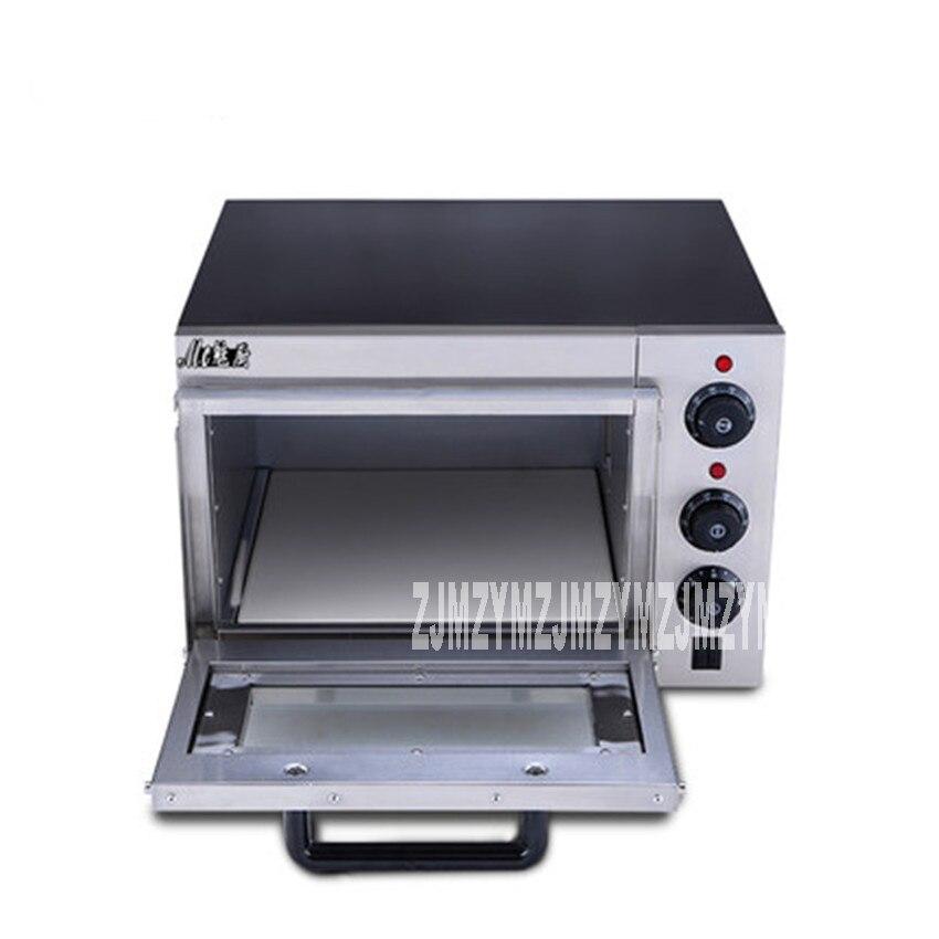 1 pc acier inoxydable électrique EP1A maison pizza four thermomètre/mini four/four à pain 220 V/50Hz taille de cuisson 35*34.5*20 CM - 2