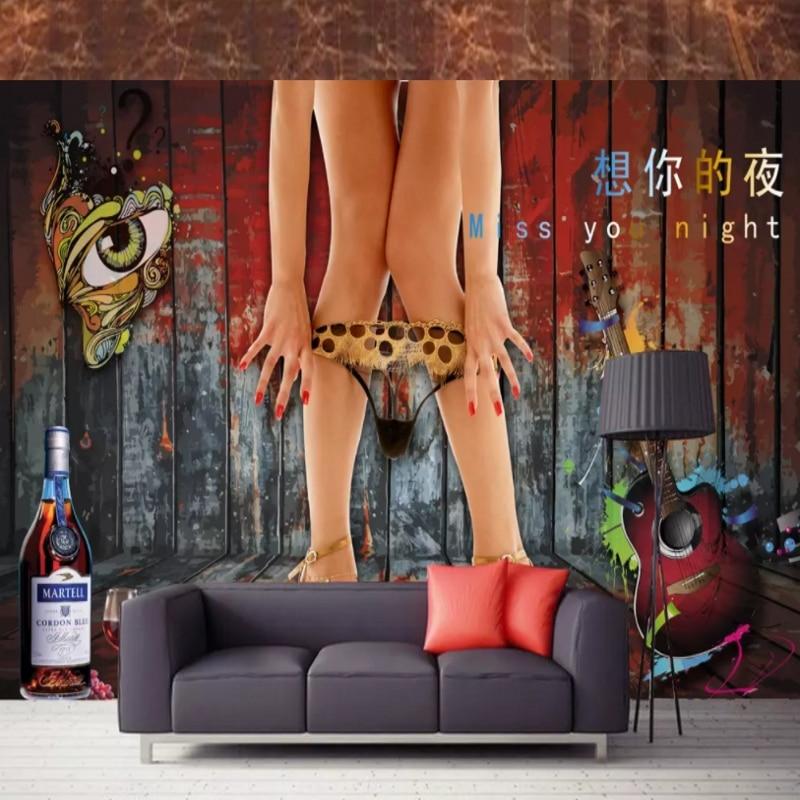 Custom Photo Wallpaper 3D Sexy Beauty Legs Bedroom KTV Bar Background Wall Paper Mural