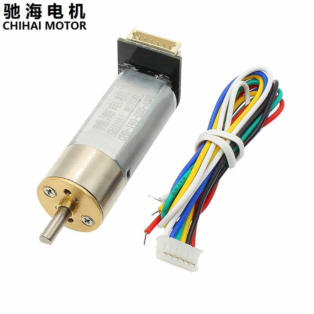цена на Chihai Motor CHR-16G-050-ABHL DC 6V 12V 7PPR Encoder Motor Reducer Carbon brush Gear Motor DC Gear Motor Popular