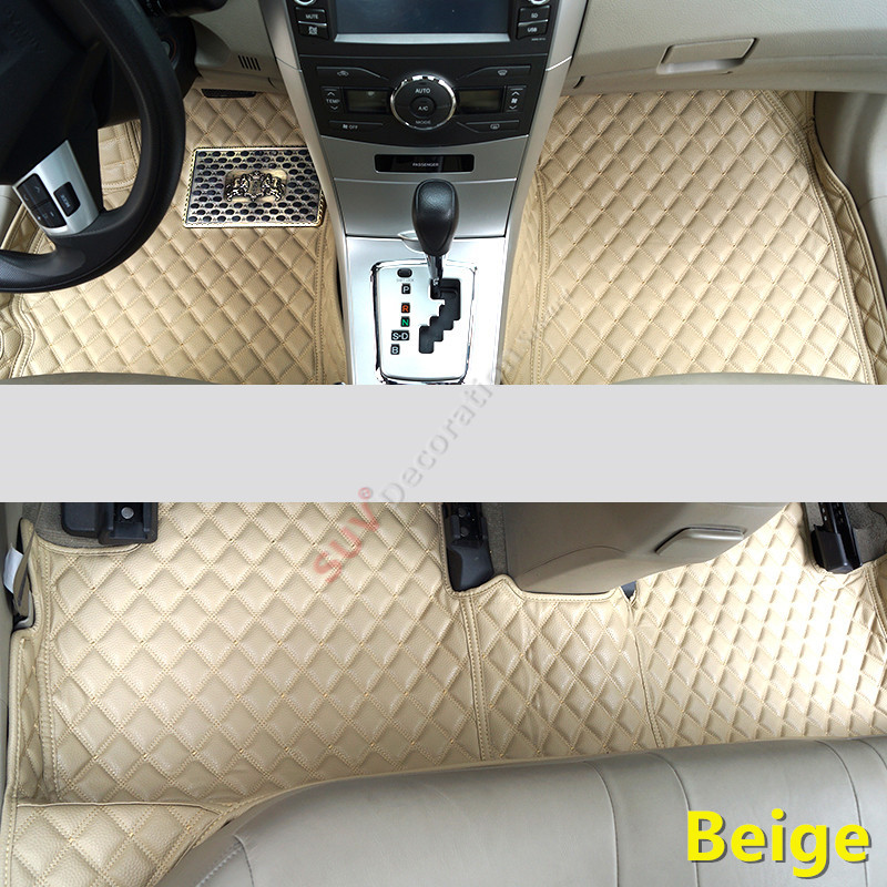 For Audi A4 B8 2008 -2015  Accessories Interior Leather Carpets Cover Car Foot Mat Floor Pad 1set only fit 7 seats for ford everest suv 4dr 2015 2016 accessories interior leather carpets cover car foot mat floor pad 1set