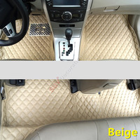 For Audi A4 B8 2008 2015 Accessories Interior Leather Carpets Cover Car Foot Mat Floor Pad 1set