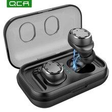 QCR T8 беспроводные наушники TWS Спортивные Bluetooth V5.0 гарнитура сенсорное управление истинные наушники бас 6D Стерео голова-бесплатно IPX5 Водонепроницаемый