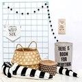 185 cm Schwarz und weiß Streifen Gefüllte Krokodil Spielzeug Plüsch Baby Stoßstange Krippe Bett Protector Baumwolle Kissen Kinder Zimmer Dekor