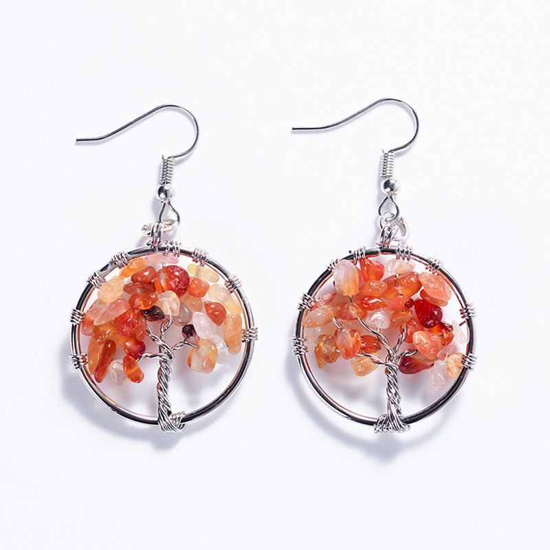 Exaggerated personality Colorful Handmade natural stone Earrings ...