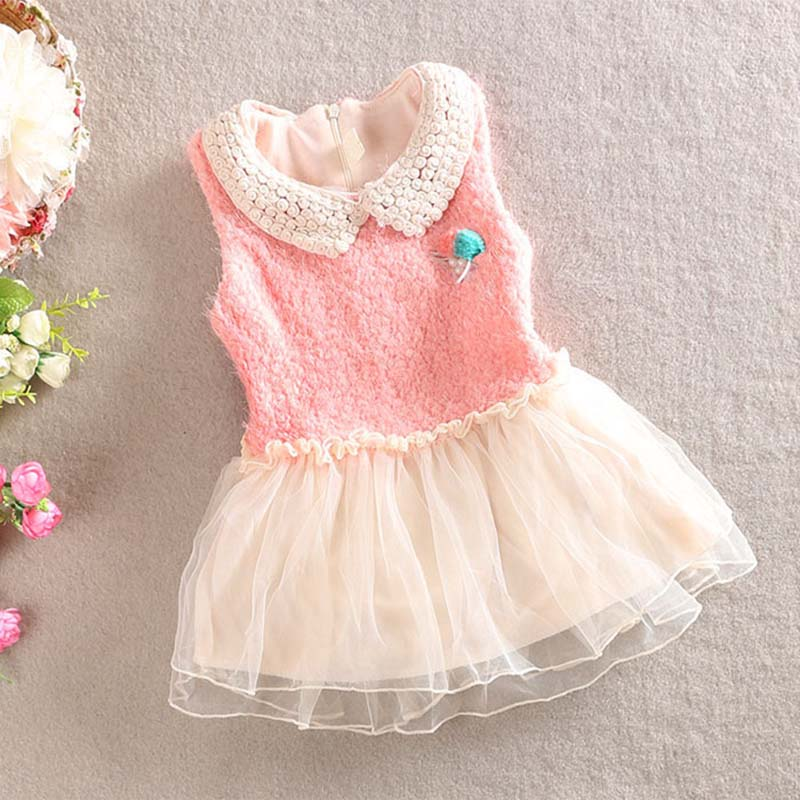 aliexpresscom buy new beautiful baby girls winter clothes kids lace flower vest gauze dress toddler girls christmas dress from reliable toddler girl