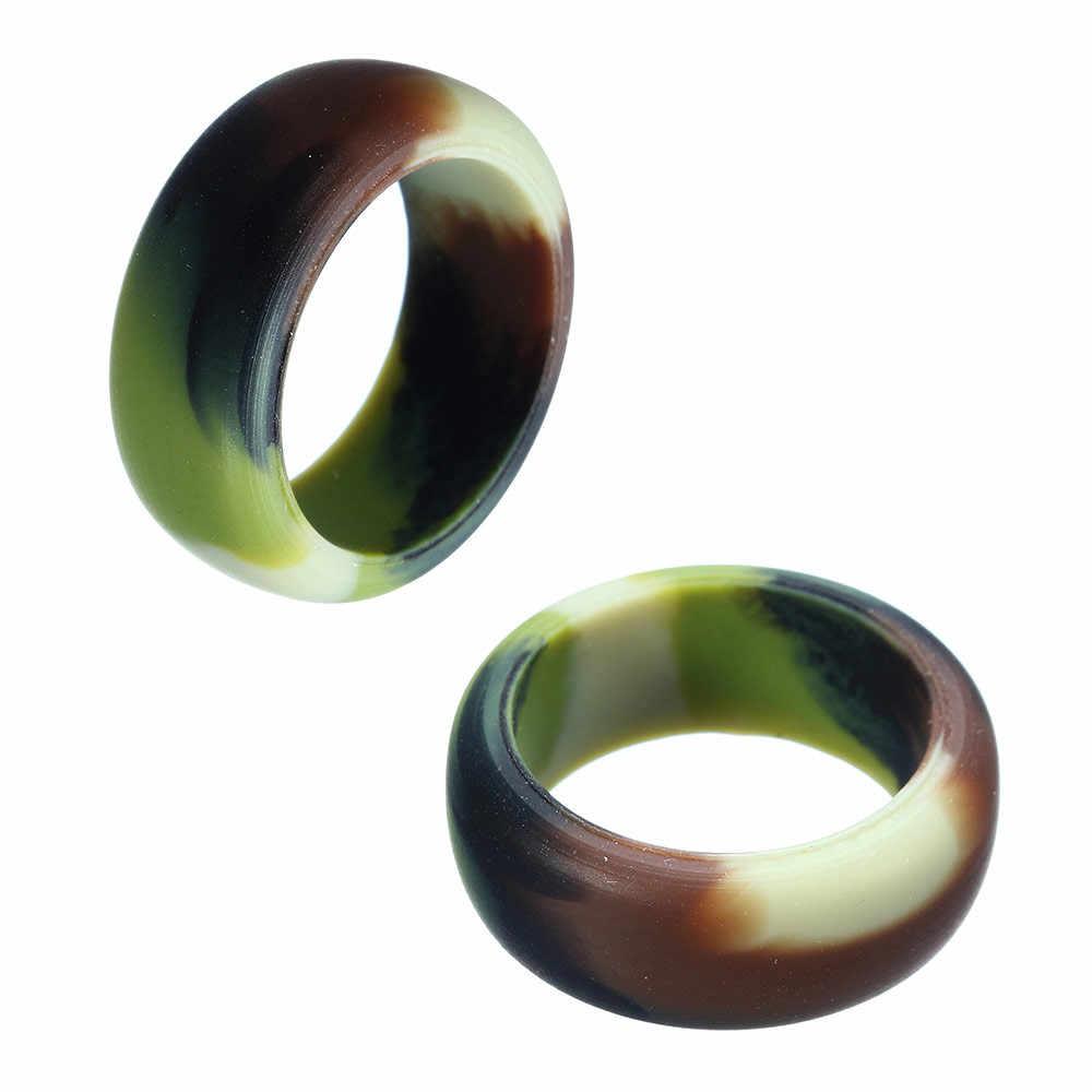 Multicolor Tamanho 7-12 Hipoalergênico Crossfit Flexível de Borracha de Silicone Banda Anel de Casamento anéis de Noivado do vintage para Mulheres Dos Homens