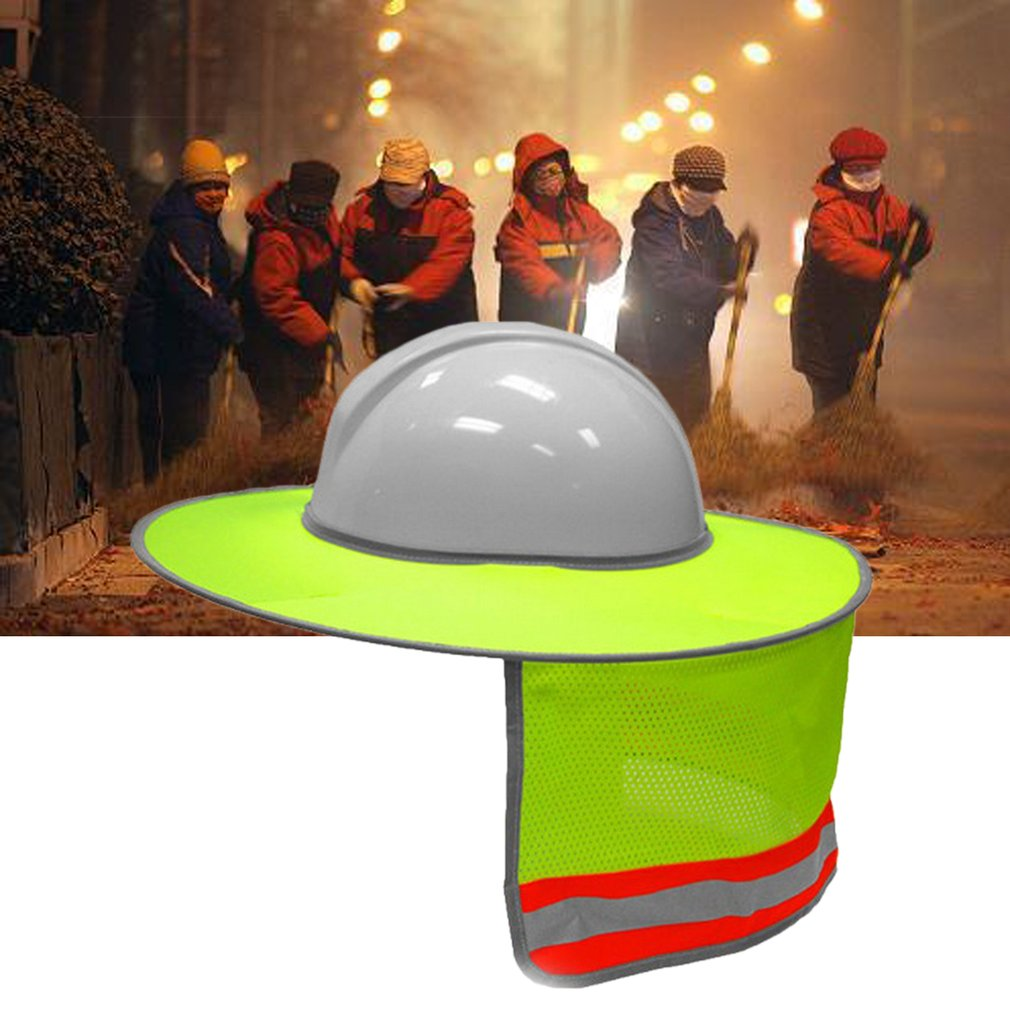 Hard Hat Sun Shade Neck Shield Sun Protection With Reflective Strip and High Visable Mesh Design For Hardhats/Helmet SecurityHard Hat Sun Shade Neck Shield Sun Protection With Reflective Strip and High Visable Mesh Design For Hardhats/Helmet Security