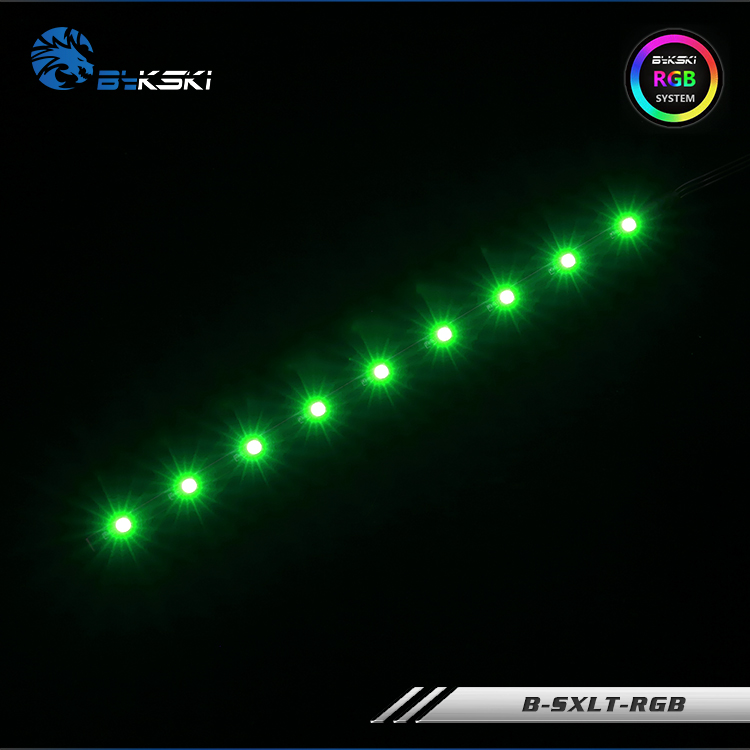 Bykski LED Strip use for 150mm/200mm/260mm Reservoir / 12V 4PIN RGB / 5V 3PIN A-RGB / suppost connect to AURA SYNC image
