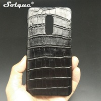 Solque Real Genuine Leather Case For Mi Xiaomi Redmi Note 4X Cell Phone Slim Hard Shell