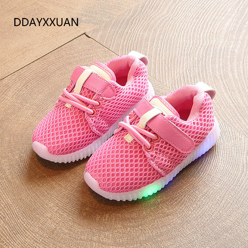 Kids Shoes Glowing Sneakers New Fashion Children Shoes With Light Led Luminous Sports Baby Toddler Boys Girls Shoes EU 21-30