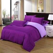 Deep Purple/Light Purple Duvet Cover With Pillowcase Bedding Set Queen Size 4PCS Bed Quilt