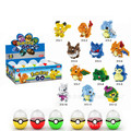 12pcs a set pok cartoon mini Building Blocks in surprise egg box new Model Self-Locking Bricks Toys kids gift with egg packing
