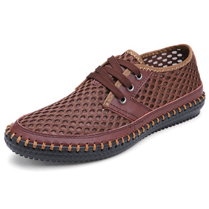 Image 5 - Wiosna lato 2020 oddychające buty z siatką mężczyźni dorywczo gorąca sprzedaż zasznurować Zapatos Hombre lekkie płaskie Plus Size buty 47s 48s