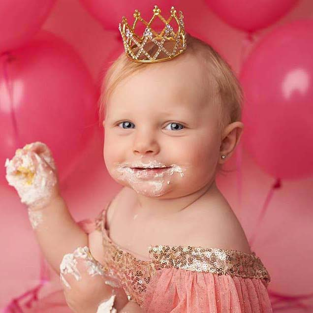 Kūdikių naujagimiai fotografuojami karūnos princesės merginos - Mados papuošalai - Nuotrauka 6
