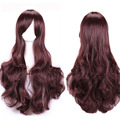 Long Brown Curly Wavy Women's Lady's Hair Cosplay Party Wig