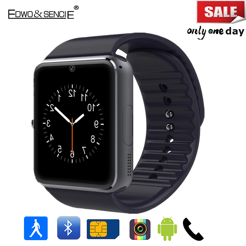 Edwo GT08 Bluetooth Smart Watch 1 54 With Sim Card Slot Push Message Pedometer Smartwatch Clock
