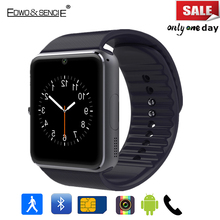 Edwo GT08 Bluetooth Smart Watch 1.54″ With Sim Card Slot Push Message Pedometer Smartwatch Clock For Android Phone PK A1 U8 DZ09