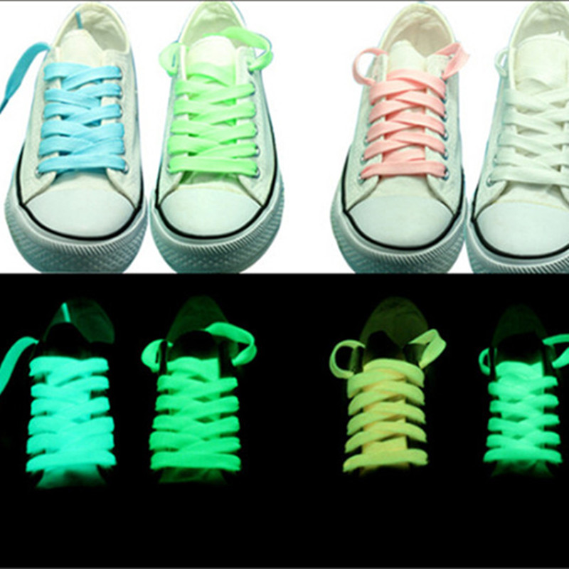100pair/lots Luminous <font><b>Shoelace</b></font> in dark Glowing <font><b>Led</b></font> Shoes Strings Party <font><b>Shoelaces</b></font> For Growing Shoes Canvas Athletic Shoes